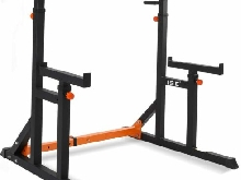 Supports Réglable Rack Cage de Squat Multifonction Barbell Musculation Traction