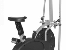 Vélo d'appartement elliptique 2 En 1 LCD Sport Gym Velo Cardio Exercice Fitness