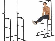 Chaise romaine Robuste Pull Up & Push Up & Dip Station de Musculation Maison