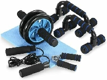 Appareils Fitness 5 en 1 Roue Kit Complet Fitness Exercice Musculation Sports