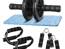 Fitness Ab Roller Roue Abdominale Exercice Abdominaux Tapis Compact Robuste