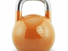 Kettlebell CAPITAL SPORTS entraînement physique body building acier 28kg orange