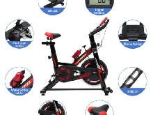 KUOKEL Vélo d'appartement Exercise Bicyclette Spinning Bike 120KG Max Fitness